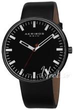 Akribos XXIV Essential Sort/Lær Ø43 mm
