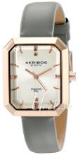 Akribos XXIV Diamond Sølvfarget/Lær