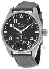 Alpina Startimer Sort/Lær Ø44 mm