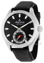 Alpina Horological Smartwatch Sort/Lær Ø44 mm