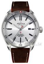 Alpina Alpiner Sølvfarget/Lær Ø44 mm