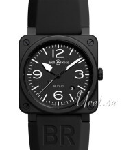 Bell & Ross BR 03-92 Sort/Gummi Ø42 mm