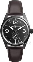 Bell & Ross BR 123 Sort/Lær