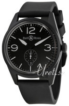 Bell & Ross BR 123 Sort/Gummi Ø41 mm
