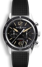 Bell & Ross BR 126 Sort/Gummi Ø41 mm
