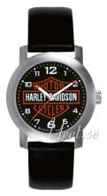 Bulova Harley-Davidson Sort/Lær