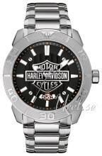 Bulova Harley-Davidson Sort/Stål