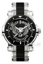 Bulova Harley-Davidson Sort/Stål Ø44 mm