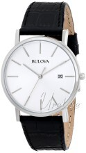 Bulova Dress Sølvfarget/Lær Ø37 mm
