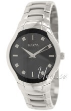 Bulova Diamond Sort/Stål