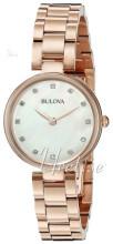 Bulova Diamond Sølvfarget/Rose-gulltonet stål Ø27 mm