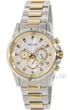 Bulova Marine Star Chronograph Two Tone White Dial
