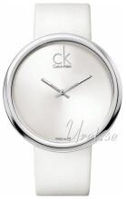 Calvin Klein Sølvfarget/Lær