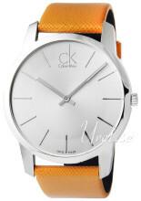 Calvin Klein City Sølvfarget/Lær Ø44 mm