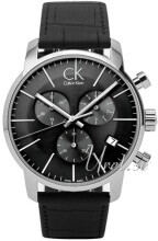 Calvin Klein City Chronograph Sort/Lær