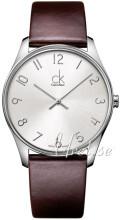 Calvin Klein Classic Sølvfarget/Lær Ø38 mm