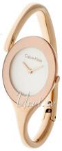Calvin Klein Dress Hvit/Rose-gulltonet stål Ø25 mm