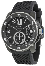 Cartier Calibre De Cartier Sort/Gummi