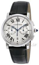 Cartier Rotonde De Cartier Sølvfarget/Lær
