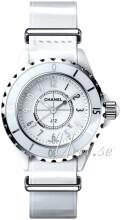 Chanel J12 Hvit/Lær
