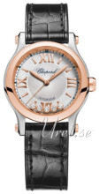 Chopard Happy Sport 30 MM Automatic Sølvfarget/Lær