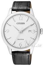 Citizen Eco Drive 180 Hvit/Lær Ø43 mm