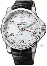 Corum Admirals Cup Challaenger 44 Hvit/Lær