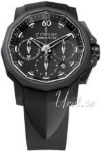 Corum Admirals Cup Challaenger 44 Sort/Gummi