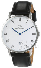 Daniel Wellington Dapper Sheffield Hvit/Lær Ø38 mm