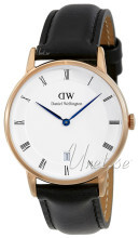 Daniel Wellington Dapper Sheffield Hvit/Lær Ø34 mm