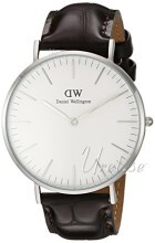 Daniel Wellington Classic York Antikkhvit/Lær Ø40 mm