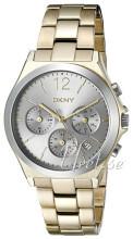 DKNY Chronograph Sølvfarget/Gulltonet stål