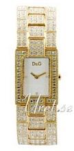 Dolce & Gabbana D&G Hvit/Gulltonet stål 28x23 mm