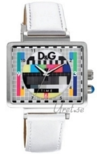 Dolce & Gabbana D&G Medicine Man TV Test Card Dial Flerfarget/Lær 41x33 mm