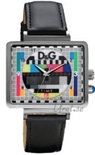 Dolce & Gabbana D&G TV Test Card Dial Flerfarget/Lær 41x33 mm
