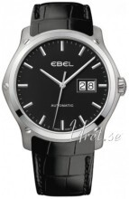 Ebel Classic Hexagon Sort/Lær Ø41 mm