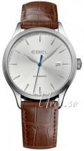 Ebel Classic 100 Sølvfarget/Lær