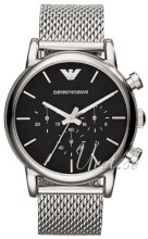 Emporio Armani Dress Sort/Stål Ø41 mm