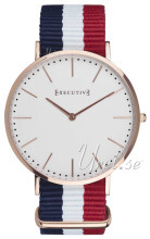 Executive Hvit/Rose-gulltonet stål Ø41 mm