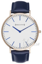 Executive Band Hvit/Lær Ø41 mm