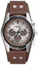 Fossil Casual Sølvfarget/Lær