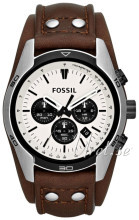 Fossil Chronograph Hvit/Lær