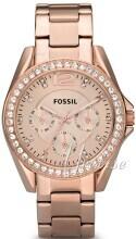 Fossil Riley Rosegullfarget/Rose-gulltonet stål Ø36 mm