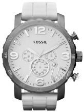 Fossil Nate Hvit/Gummi