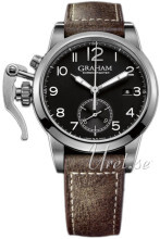 Graham Chronofighter Sort/Lær Ø42 mm