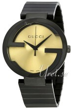 Gucci Interlocking Gulltonet/Stål Ø42 mm