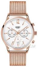 Henry London Hampstead Hvit/Rose-gulltonet stål Ø41 mm