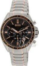 Hugo Boss Sort/Rose-gulltonet stål