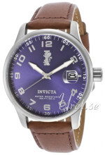 Invicta I-Force Blå/Lær Ø45 mm