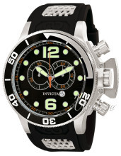 Invicta Corduba Sort/Gummi Ø53 mm